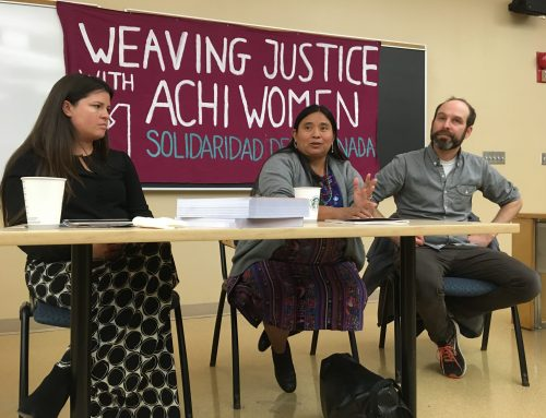 Justice for the 36 Maya Achi Women: Report-Back on Speaking Tour with Gloria Reyes