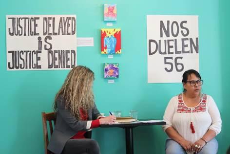 Jimenez speaking at Glitter Bean Cafe in Halifax on March 3, 2019. - Stacey Gomez