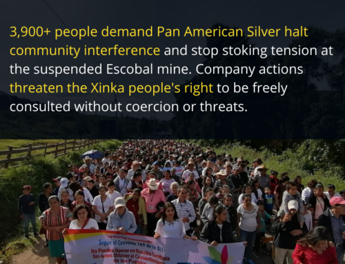 Amidst a spike in violence 3,900+ sign petition demanding Pan American Silver respect the Xinka Peoples' rights to free and prior consent