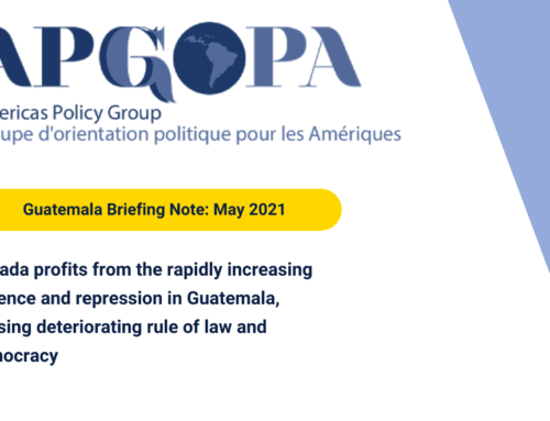 APG – GOPA Guatemala Briefing Note: May 2021